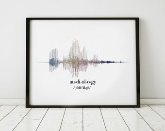 Audiologist Gift, Sound Wave Art Print, Audiology Gift, ENT Gifts, Ears Nose and Throat, ENT Gift Idea, Otolaryngologists Gift