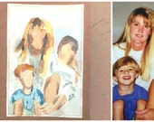 Custom Original Family couple person Water Color Painting (Greeting Cards or for framing)