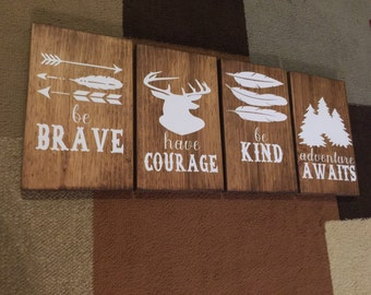 Woodland Theme| Nursery Decor Signs| Wood Signs