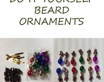 Beard Ornaments Kit Beard Art Beard Bling DIY 12 Pc Kit Baubles for the Beard Baubles for the Beard