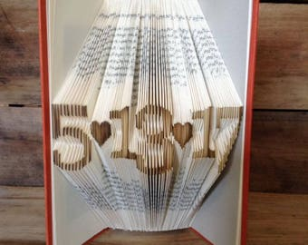 Custom Date Folded Book Art