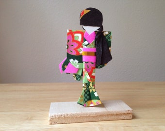 Japanese Paper Doll With Stand