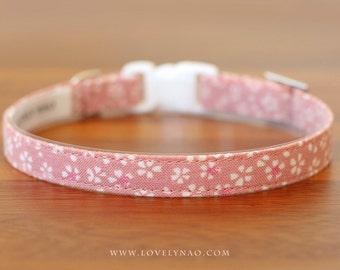 Cherry Blossom Cat Collar –  Pink
