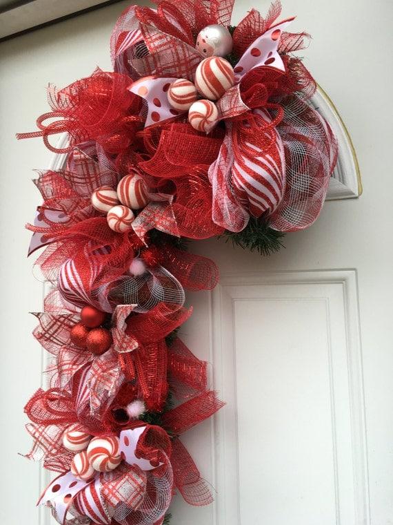Candy Cane Christmas Wreath Candy Cane Wreath Christmas