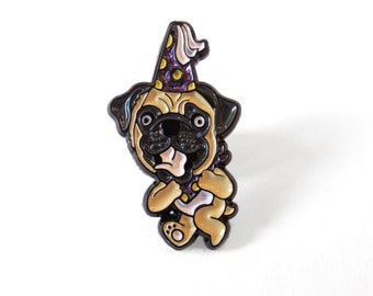 Party Dog Pin