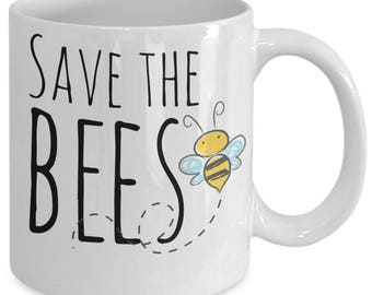 Bee Lovers Mug - Save the Bees - 11 oz Gift Mug