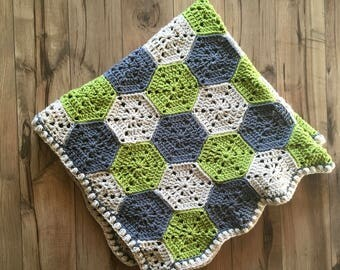 Hexagon Granny Square Baby Blanket