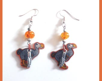 "Earrings ""Respectable dodo of Mauritius"" """