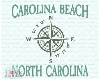 Carolina Beach North Carolina Nautical Location Vacation Spot Family Vacation svg dxf eps jpg ai files for Cricut Silhouette & others