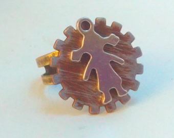 Handmade ring, statement ring, multisize ring, cog ring, steampunk, Handmade steampunk, Steampunk ring, steampunk jewelry, steampunk ring,