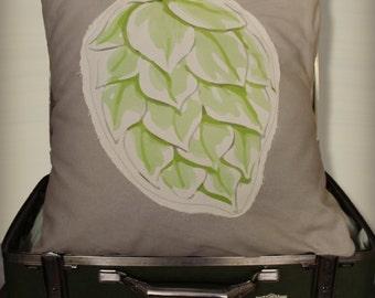 Frayed edge hop throw pillow