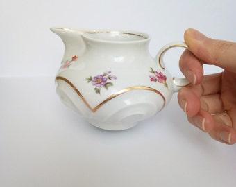 Creamer / Porcelain creamer / Retro creamer / Milk jug / GDR creamer / Weimar GDR porcelain (Germany)