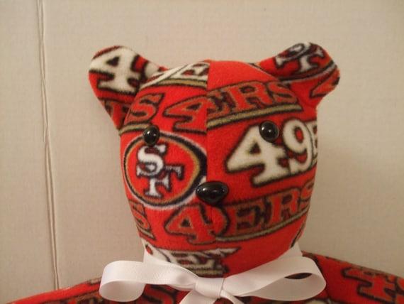 49ers Teddy Bear San Francisco Bear 49ers Bear Football