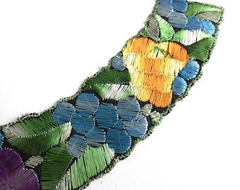 Fruit Trim Applique, 1930s embroidered applique. Vintage patch, sewing supply. #649GC8K1
