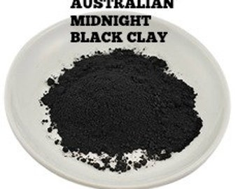 sample CLAY PACK#2-Australian Midnight Black Clay, Australian Olive Green Clay, Australian Pastel Pink Clay, French Yellow Clay .75 & 2 oz