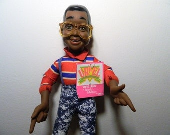 1991 Family Matters Steve Urkel Doll With Tag