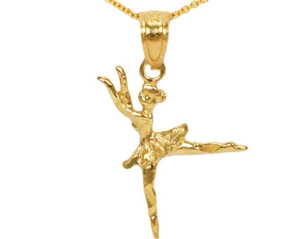 10k Yellow Gold Ballerina Necklace