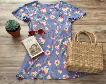 Vintage floral tunic dress