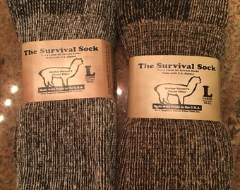 Survival Alpaca Socks - Large and Extra Large