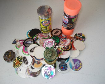 pile of pogs from the past