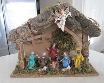 Vintage Nativity Scene Set
