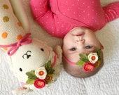 Summer Coral  // Petite Poppy Headband // Felt flower crown headband // kikiandbee