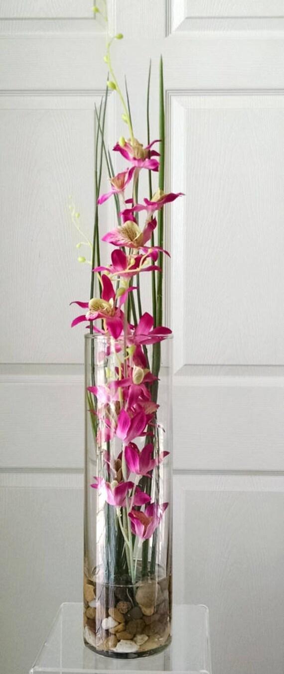 orchids in glassfaux floralmodern silk flowerssilk, Beautiful flower