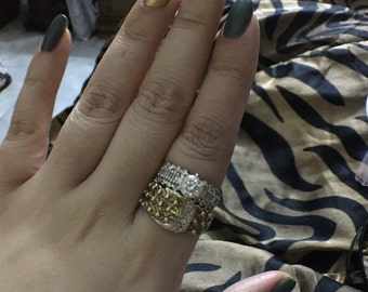 Gold and diamond buckle ring