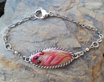Garnet Buds Bracelet / one of a kind / gift idea