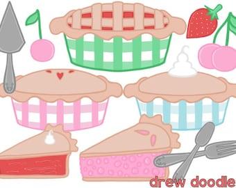 Sweet As Pie Digital Clip Art Set- Instant Download