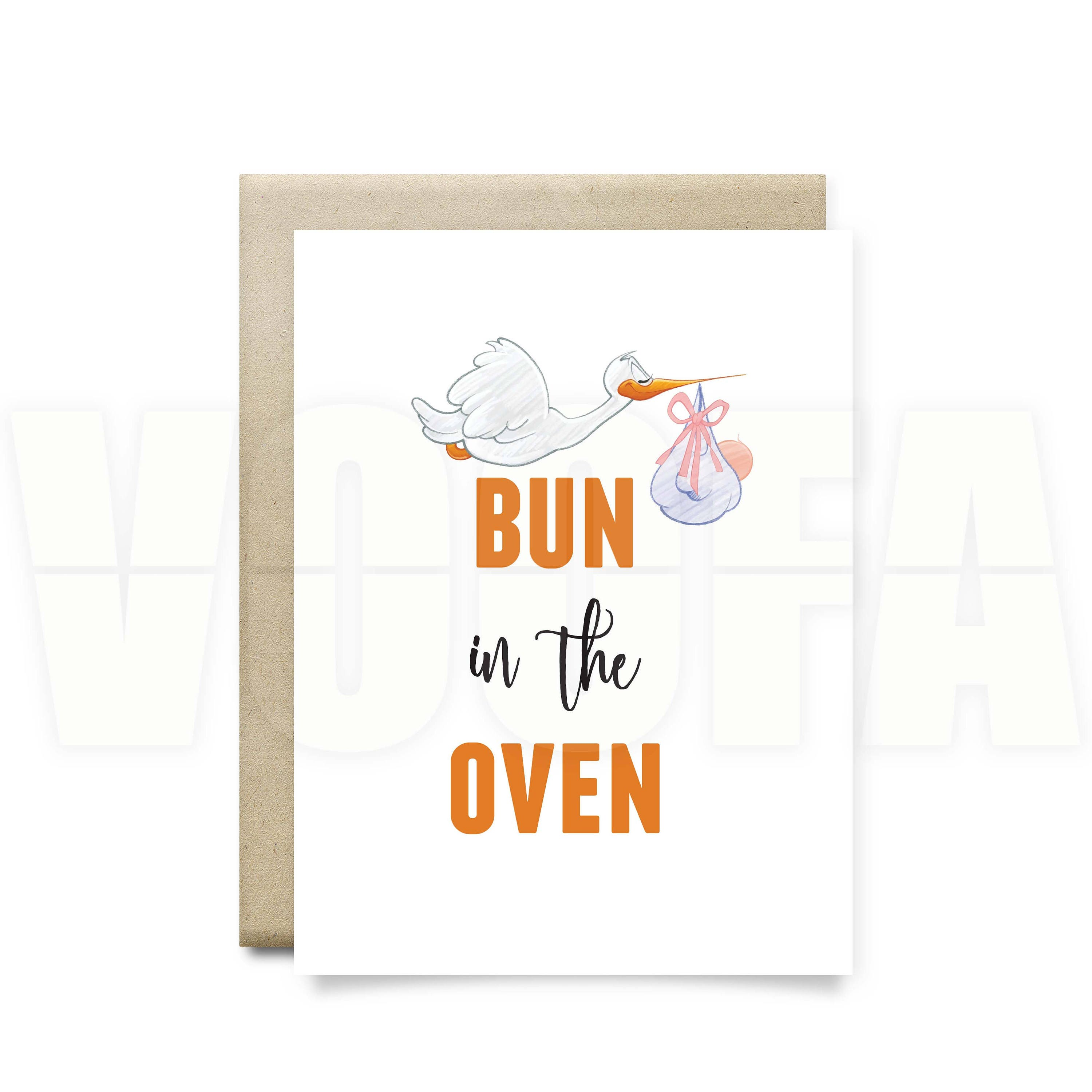 aunt pregnancy announcement grandparents to be bun the – Bun in the Oven Baby Announcement