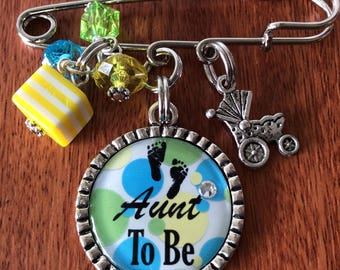 AUNT-To-Be-Pin, Mom-To-Be Pin, Babyshower-Pin, Mommy-To-Be Pin, Babyshower Gifts, Baby Shower Pin, Gifts For Babyshower, Pins For Mom To Be