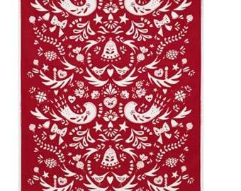 IKEA VINTER 2016 Fabric red/white pattern / Width 150 cm / 603.338.31