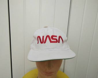 Rare Vintage NASA US Space & Rocket Center Embroidered Cap Hat Free size fit all