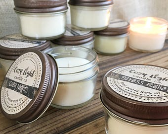 Choose Your Scent  | Small 4oz Soy Candle | Sample Size | Hand Poured