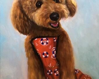 Pet Portrait - Custom Dog Portrait - Original Oil Painting from photo