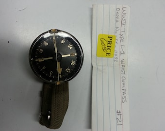 WWII type L-1 Wrist Compass Order No. AF-11492