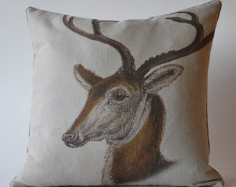 Vintage Stag Pillow 2