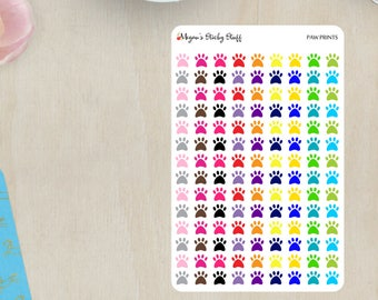 Paw Print Functional Planner Stickers