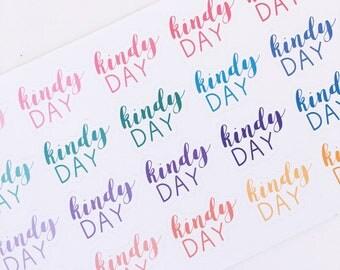 KINDY DAY Sticker Sheet