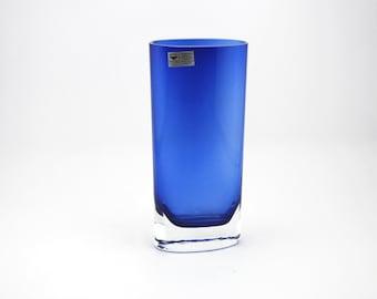 Gral Kristall Glashütte Dürnau - Beautiful Blue clear glass vase