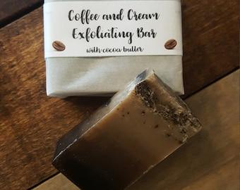 Coffee & Cream Exfoliating Bar