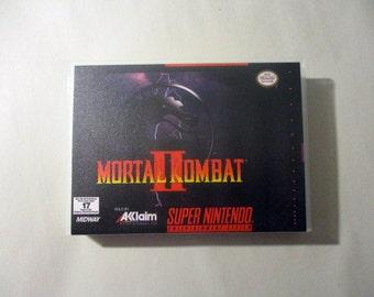 Mortal Kombat 2  Custom SNES - Super Nintendo Case (***NO GAME***)