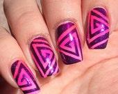 Triangle Spirals Nail Vinyl Fingernail Art Stencils