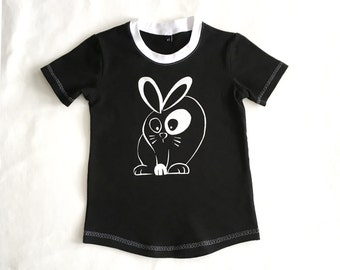 Kids short sleeve t-shirt with bunny print