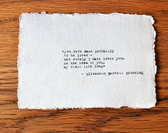 Elizabeth Barrett Browning love quote hand typed on antique typewriter gift girlfriend boyfriend husband wife wedding present birthday