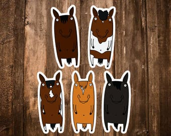 Horse Stickers - Equestrian Art Decor - Horse Accessories/Decorations - Custom Horse Lover Gifts for Girls - Equine Farm Animal Stickers