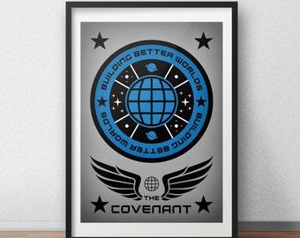 Aliens Movie - The Covenant - Movie Poster - Alternative Film Poster - 2017 Film - Geek Poster - Geek Gift