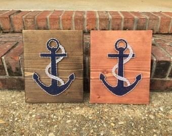 Anchor String art, nautical art, nautical string art, beach string art, beach decor, anchor art, sea art, anchor art, beach art, beach decor