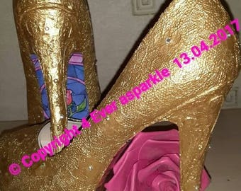 Custom Belle Themed Heels